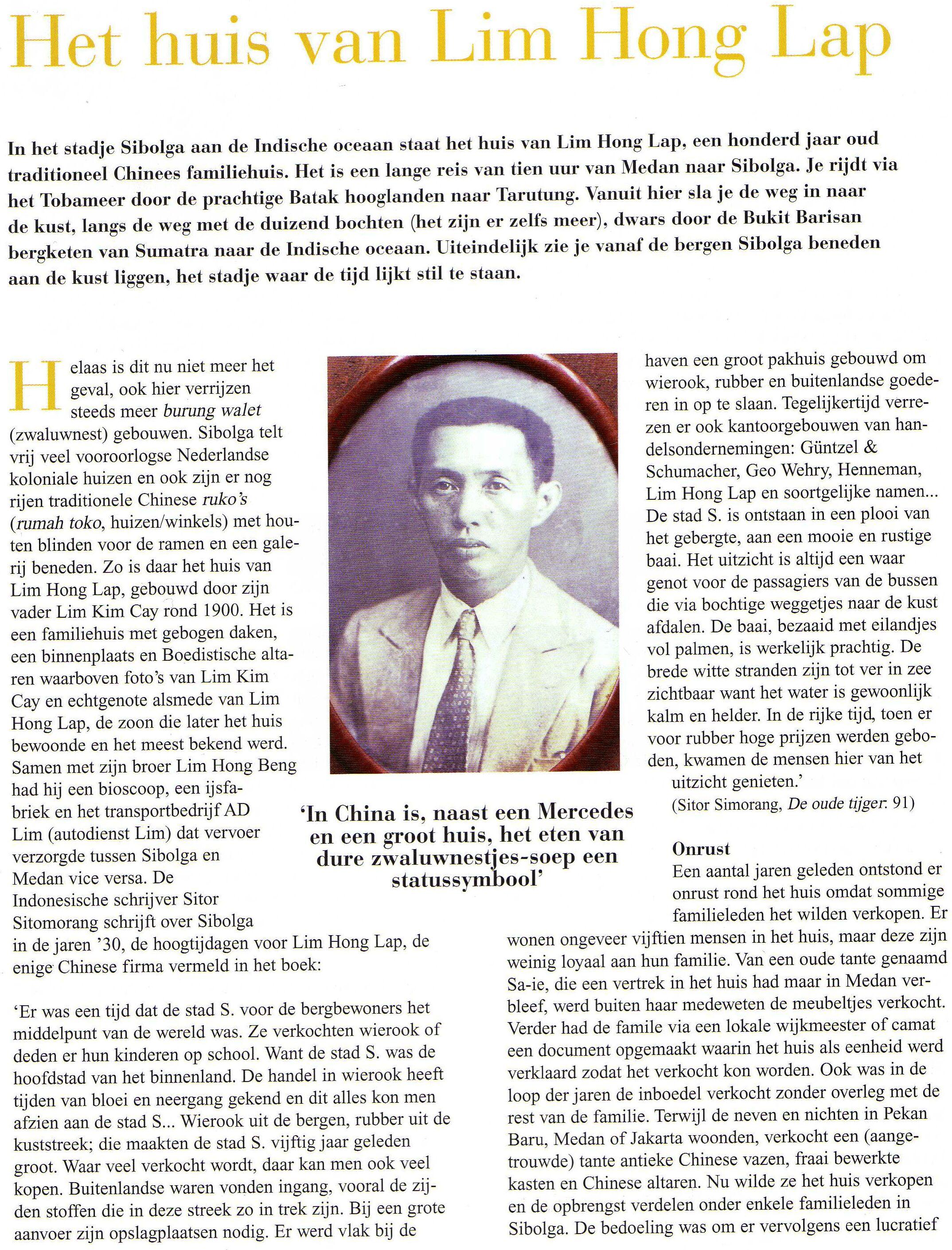 Article House Lim Hong Lap - Het Huis van Lim Hong Lap