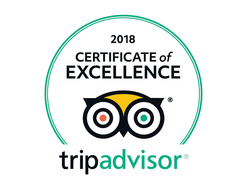 Trip Advisor Certificate of Excellence 2018 - Stadstour Architectuur Medan