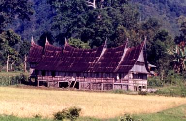 maninjau adat house - Lake Maninjau
