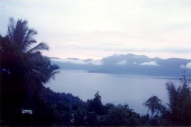 maninjau donkermeer palm - Lake Maninjau