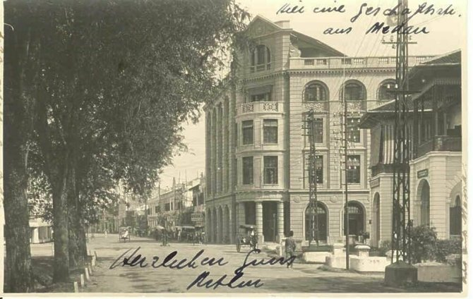 medan harrisons crosfield Juliana building 19291 - Stadstour Architectuur Medan