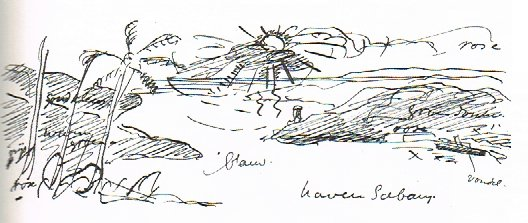 Drawing by Harm Kamerlingh Onnes, 1923
